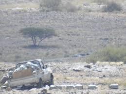نجاة سائق شاحنة محملة بالغاز من موت محقق في انفجار لغم حوثي بالبيضاء