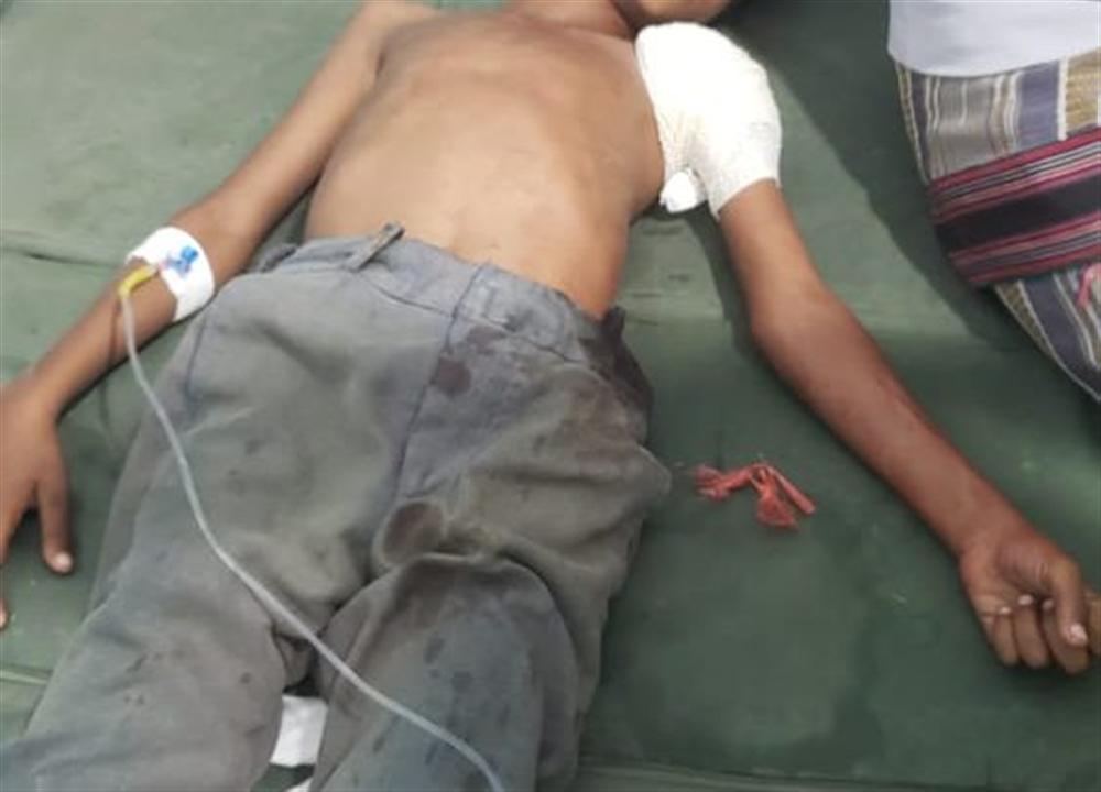 مصادر : إصابة طفل بنيران الحوثيين في الحديدة